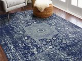 Navy Blue and Black area Rug Riggs Distressed Dark Blue area Rug