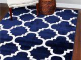 Navy Blue and Brown area Rug 4518 Navy Blue