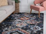 Navy Blue and Brown area Rug Fenrir southwestern Navy Blue Brown area Rug