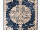 """Navy Blue and Brown area Rug Romance Collection Rugs Navy Blue Brown Multi Colored Traditional oriental Design Premium soft area Rug 5 1"""" X 7 2"""" Rug Size"""