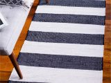 Navy Blue and Gray Runner Rug Add A Beautiful Style In Your Hallway with Our Chindi Rag