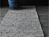 Navy Blue and Gray Runner Rug Geometric Navy Blue Leather Rug Mad About the House