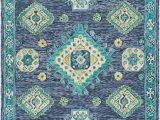 Navy Blue and Lime Green Rug Amazon Traditional area Rug Denim Navy Teal Lime