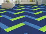 Navy Blue and Lime Green Rug Magical Tile