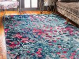 Navy Blue and Pink area Rug Mistana™ Abstract Navy Blue Beige Gray Light Blue Puce Red