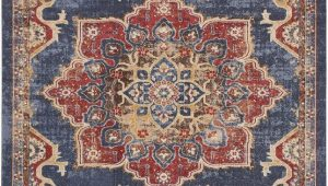 Navy Blue and Red area Rugs Dulin Blue Rust Red area Rug