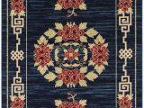 Navy Blue and Red area Rugs Minarik Gansu Navy Blue Red area Rug