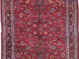 Navy Blue and Red Rug Handmade Antique Persian Mashad Red Rug In 2020 Rugs Red