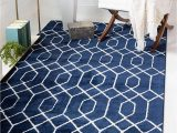 Navy Blue and Silver Rug Unique Loom Marilyn Monroe Glam Collection Textured Geometric Trellis area Rug Mmg003 8 X 10 Feet Navy Blue Silver