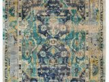 Navy Blue and Teal area Rugs fortuna Navy and Teal Hand Knotted Rug