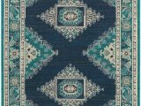 Navy Blue and Teal area Rugs Teal and Navy Eveline Rug