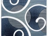 Navy Blue and Teal area Rugs United Weavers Bristol 2050 Riley Navy area Rug