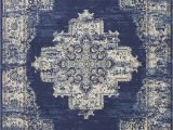 Navy Blue area Rug Walmart Eclectic Essentials Center Medallion Navy Blue area Rug