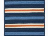 Navy Blue Braided Rugs Painter Stripe Set Sail Blue Outdoor Braided Rectangular Rugs