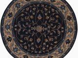 Navy Blue Circle Rug Navy Blue Round 8×8 Oushak Agra oriental area Rug