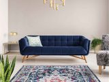 Navy Blue Dining Room Rug Mod Arte Jewel Collection area Rug Transitional Contemporary Style Medallion Distressed soft Plush Navy Blue Living Room Bedroom