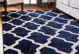 Navy Blue Dining Room Rug Navy Blue 5 X 8 Lattice Rug Rugs Com
