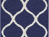 Navy Blue Entry Rug Maples Rugs Rebecca Contemporary Runner Rug Non Slip Hallway Entry Carpet Made In Usa 19 X 5 Navy Blue White