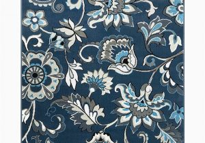 Navy Blue Floral area Rug Take A Look at This Navy Blue Floral Raffin Tremont Rug