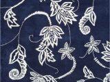 Navy Blue Floral Rug Modern Loom Blue Floral Rug 5 From the Botanical Rugs