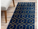 Navy Blue Gold Rug Marilyn Monroe Glam Mmg001 Navy Blue Gold 2 X 10 area Rug