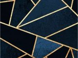 Navy Blue Gold Rug Navy Blue and Gold Geometric Pattern