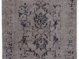 Navy Blue Grey and White area Rug Liras oriental Hand Knotted Navy Blue Gray area Rug