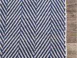 Navy Blue Herringbone Rug Chalet Herringbone Cotton Flatwoven Navy Rug Chalet
