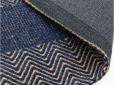 Navy Blue Herringbone Rug Ives Rug by asiatic Carpets Colour Navy Blue