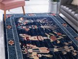 Navy Blue Large area Rug Pao tou Navy Blue 9×12 area Rug In 2020