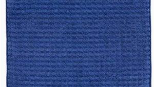 Navy Blue Memory Foam Bath Rug 24×59 Memory Foam Extra Long Bath Mat by Bedford Home Woven Jacquard Fleece Navy