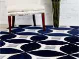 Navy Blue Modern Rug Navy Gray Modern Rug Kaleidoscope Contemporary Affordable
