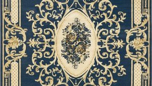Navy Blue Patterned area Rug Navy Blue 10 X 14 5 Victoria Rug