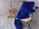 Navy Blue Sheepskin Rug Erdogan Deri Decorative Sheepskin Rug Navy Blue Derimarket