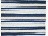 Navy Blue Striped area Rug Lydon Handwoven Braided Ivory Navy Striped area Rug