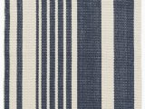 Navy Blue Striped area Rug Portland Striped Handmade Flatweave Cotton Dark Blue area Rug