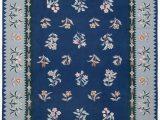 Navy Blue Wool Rug 8×10 Halewood Handwoven Flatweave 8 X 10 Wool Navy Blue Green area Rug
