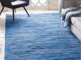 Navy Blue Wool Rug 8×10 Navy Blue 8 X 10 Chindi Cotton Rug