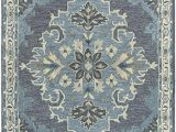 Navy Blue Wool Rug 8×10 Rizzy Home Resonant Collection Wool area Rug 8 X 10 Dark Gray Blue Gray Gray Blue Natural Ivory Central Medallion