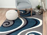 Navy Gray and White area Rug New Summit No 32swirl Blue Navy White Light Gray area Rug
