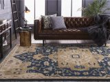 Neutral area Rugs for Living Room Surya Caesar Cae1145 Blue Neutral Traditional area Rug