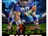 New York Giants area Rug New York Giants 3 Point Stance Poster Walmart