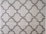 "Nicole Miller Synergy area Rug Details About Nicole Miller Designer 5×7 Shag Rug White Gray Trellis Actual 5 2"" X 7 2"""