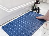 No Slip Bath Rug Honlaker Natural Rubber Bath Mat Shower Room Anti Slip Mats Bubble Massage Bathroom Mat with Suction Cup Hydrophobic Hole