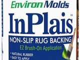 Non Latex Backed area Rugs Inplais Non Slip area Rug Backing 16 Oz Fabric & Floor Safe Latex Layer Easy Paint Application Liquid
