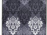 Non Skid area Rugs 5×7 Boarders Rugs Modern Non Slip Rubber Backing Kitchen and Bathroom Runner Rug area 5×7 Silver