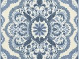 Non Skid Kitchen area Rugs Maples Rugs Vivian Medallion Kitchen Rugs Non Skid Accent area Carpet [made In Usa] 2 6 X 3 10 Blue