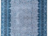 Non Skid Washable area Rugs Mylife Rugs Traditional Vintage Non Slip Machine Washable Printed area Rug Blue Grey 5 X7