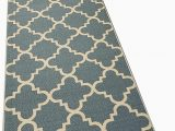Non Skid Washable area Rugs Runner Rug 2×7 Green Trellis Kitchen Rugs and Mats