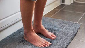 Non Slip Bath Rugs for Elderly Luxury Grey Bath Mat Microfiber Non Slip Bath Rug with Super soft Absorbent Dry Fast Design for Bath and Shower